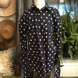 Vintage- looking Navy Button-Down